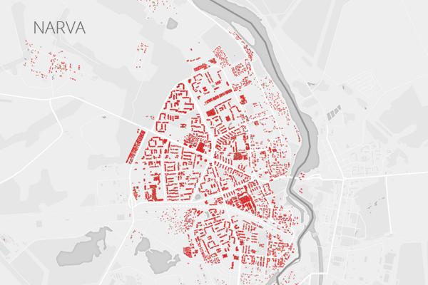 Rahvuste paiknemine Narvas.